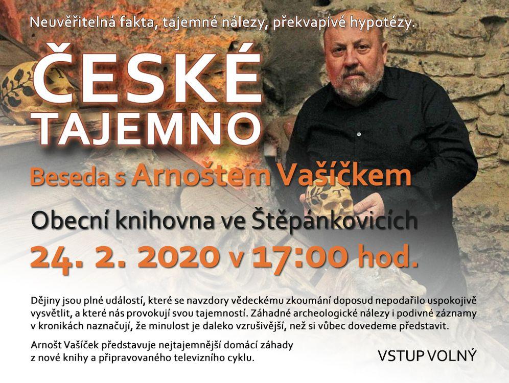 """Beseda s Arnoštem Vašíčkem """"České tajemno"""""""