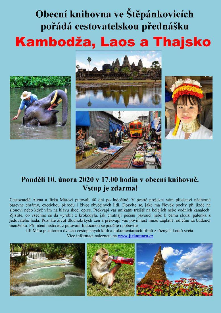 """Cestovatelská přednáška """"Kambodža, Laos a Thajsko"""""""