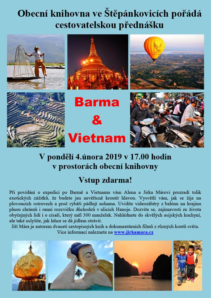 """Cestovatelská přednáška """"Barma a Vietnam"""""""