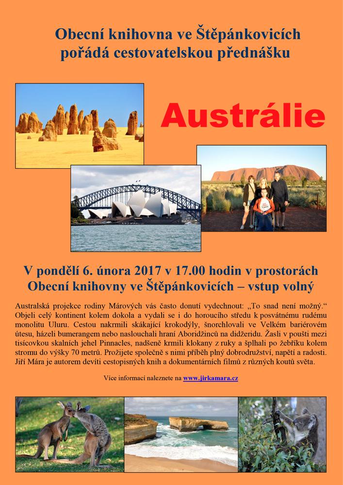 """Cestovatelská přednáška """"AUSTRÁLIE"""""""